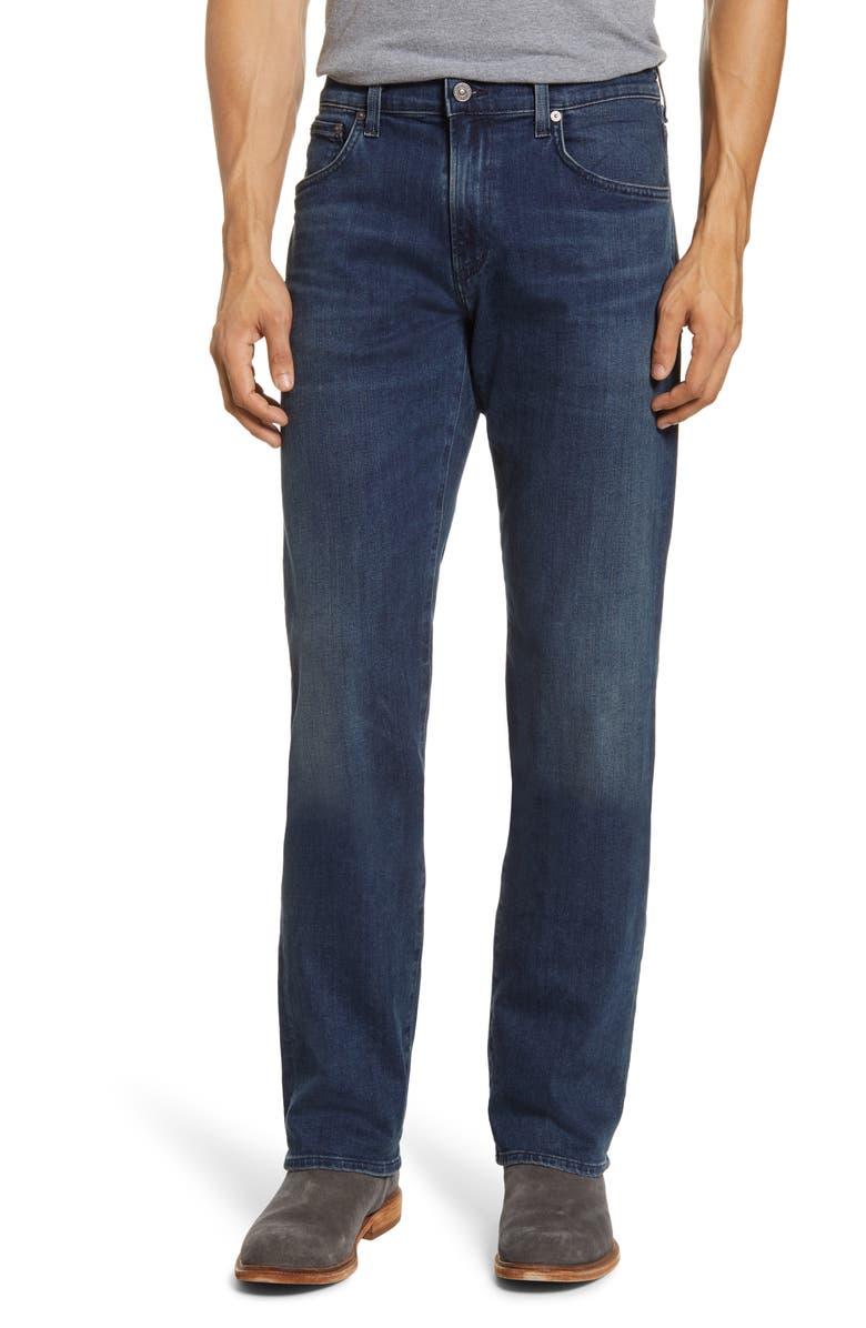 CITIZENS OF HUMANITY PERFORM Sid Straight Leg Jeans, Main, color, SILAS (DARK INDIGO WASH)