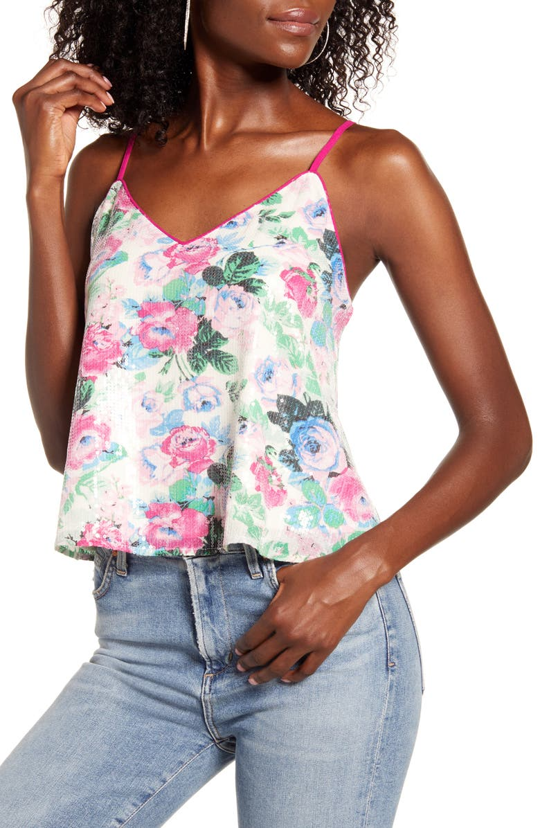 WAYF Fontane Sequin Swing Camisole, Main, color, 650