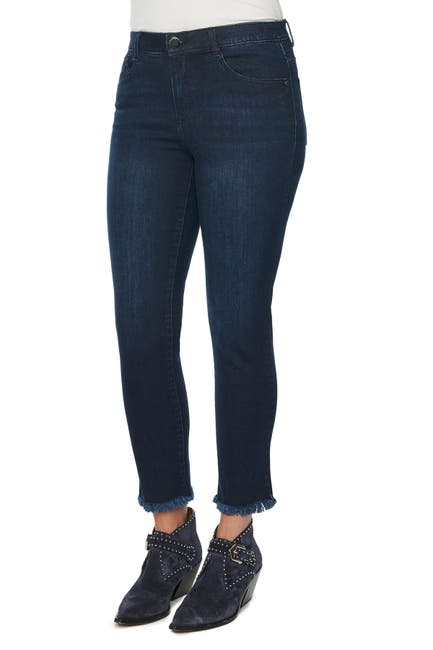 Image of Democracy AB Tech Vintage High Waist Fray Hem Skinny Jeans