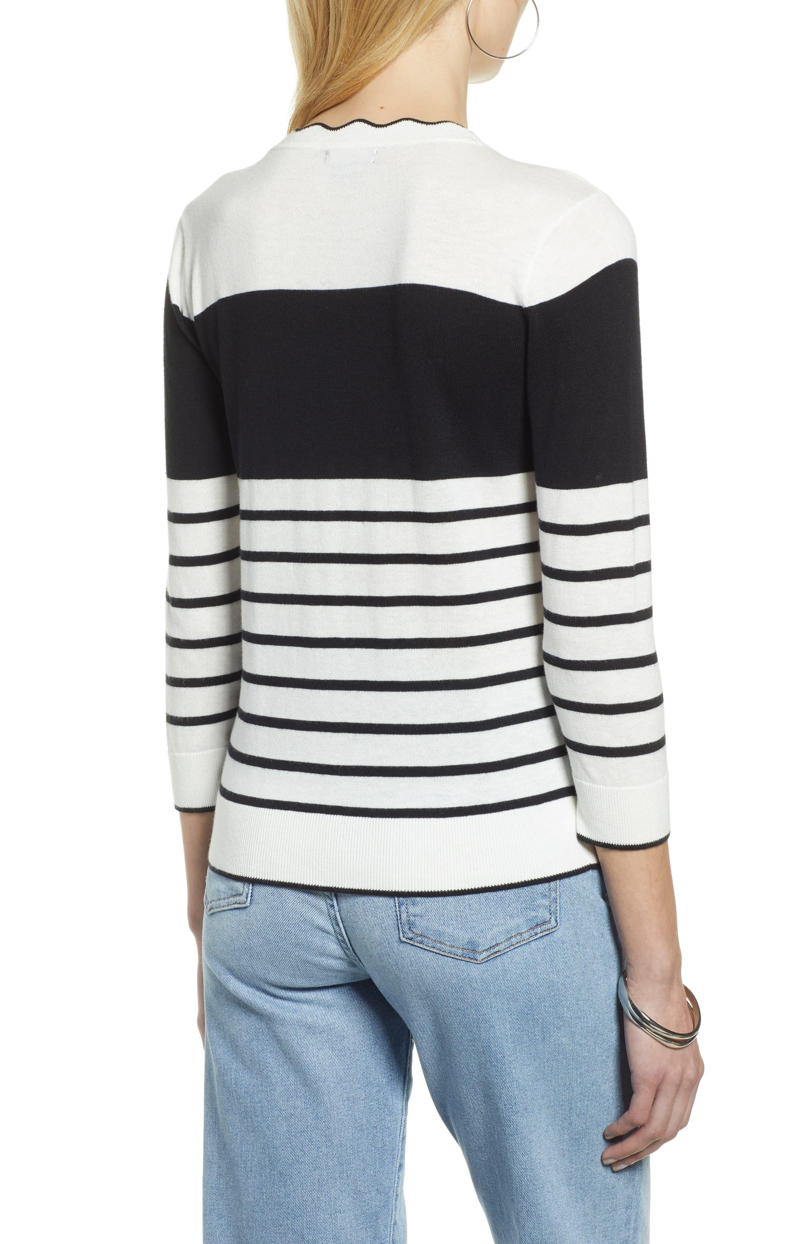 ,                             Scallop Neck Sweater,                             Alternate thumbnail 2, color,                             900