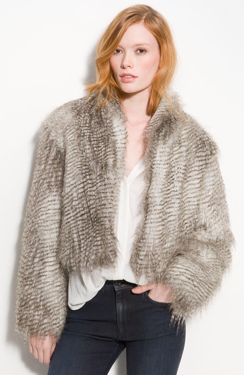 TROUVÉ Faux Fur Jacket, Main, color, 020