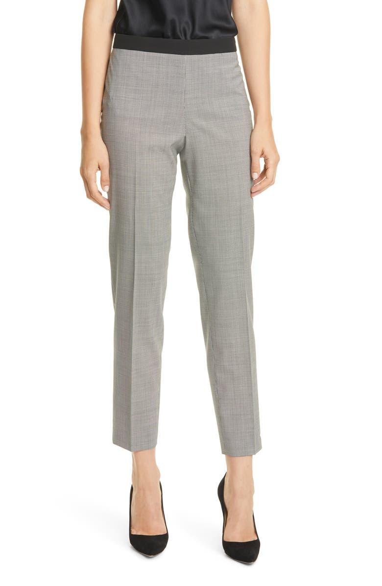 BOSS Tiluna Straight Leg Stretch Wool Suit Pants, Main, color, 001