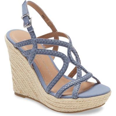 Chinese Laundry Maylin Wedge Espadrille Sandal- Blue