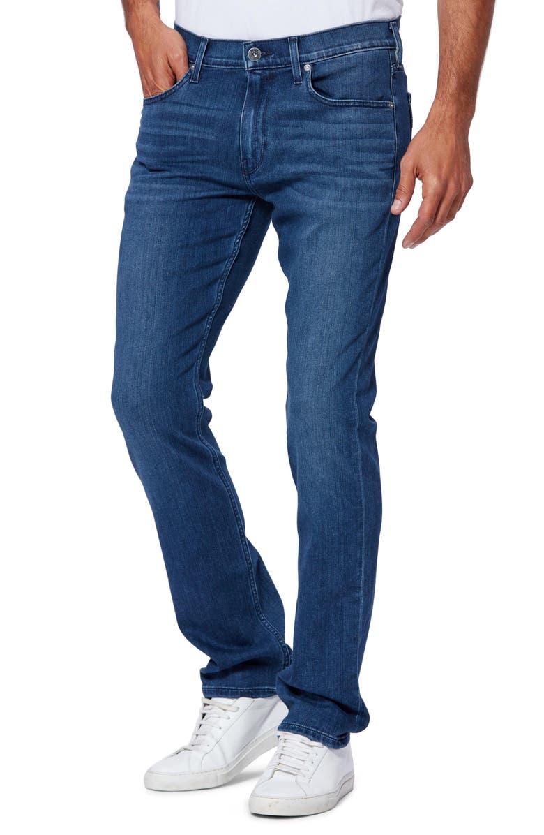 PAIGE Transcend Federal Slim Fit Straight Leg Jeans, Main, color, SHORES