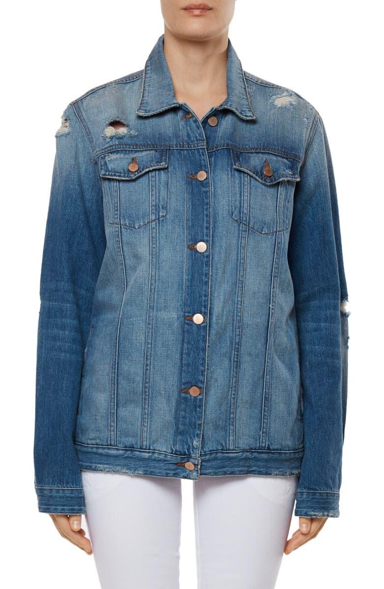J BRAND Cyra Oversize Denim Jacket, Main, color, 429