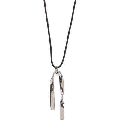St. John Collection Twist Metal Pendant Necklace