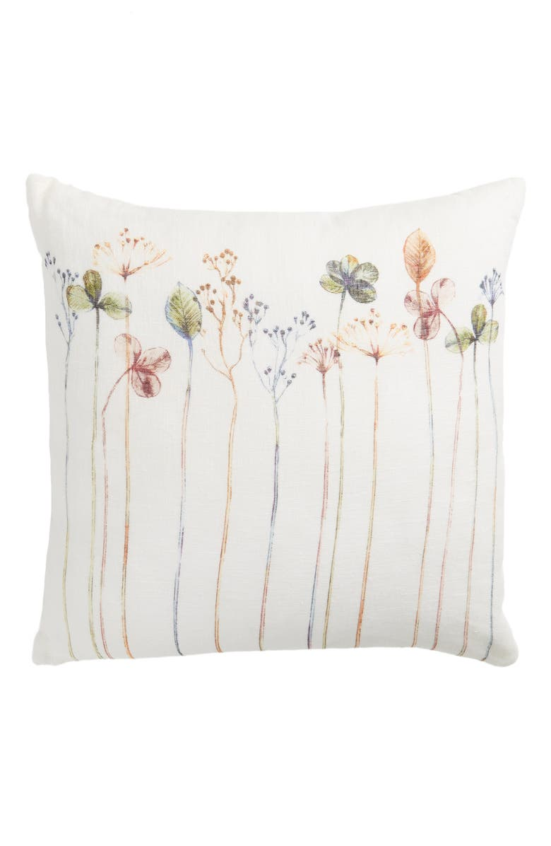 TREASURE & BOND Long Stems Print Accent Pillow, Main, color, 900