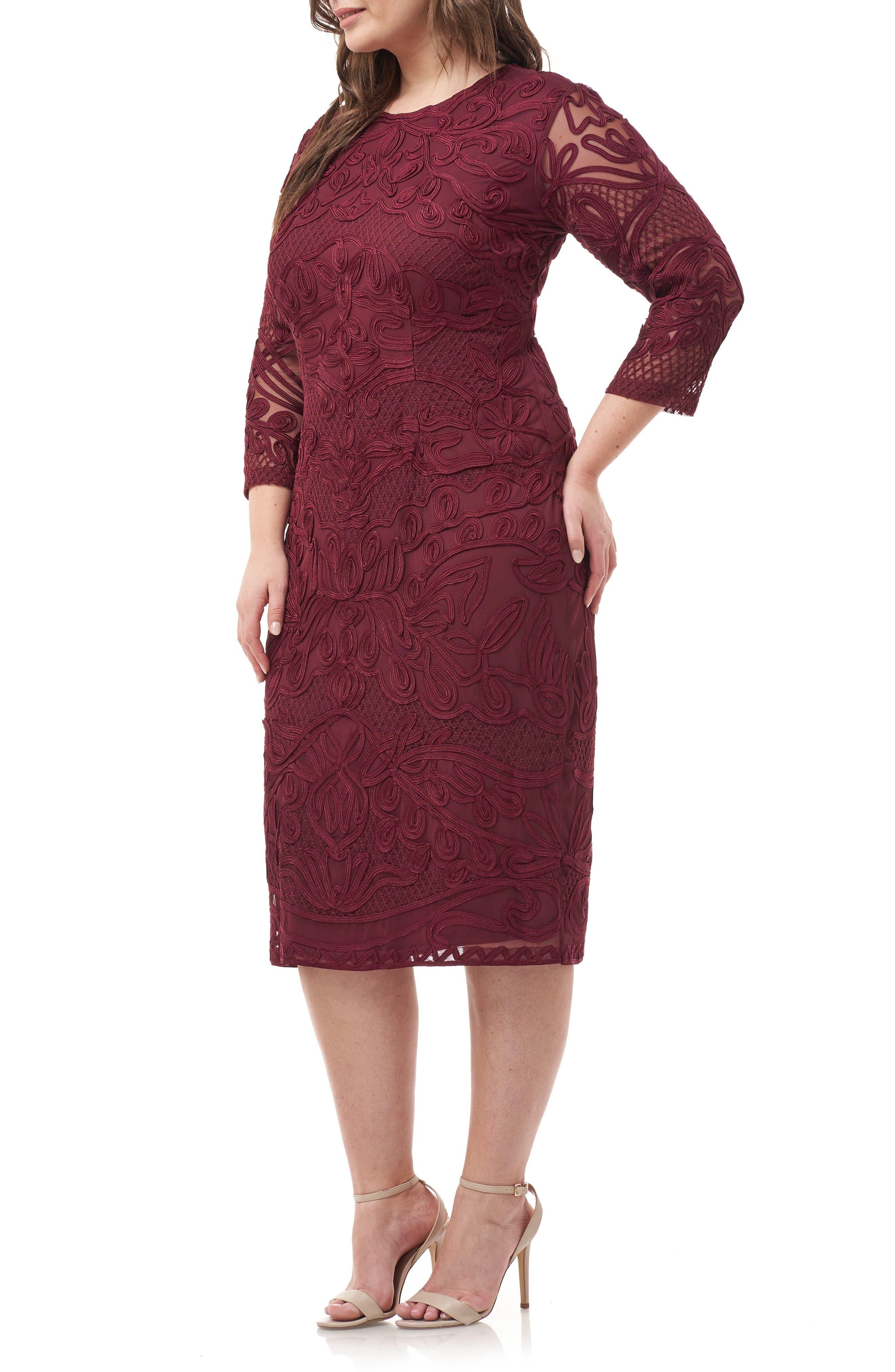 ,                             Soutache Sheath Dress,                             Alternate thumbnail 15, color,                             930