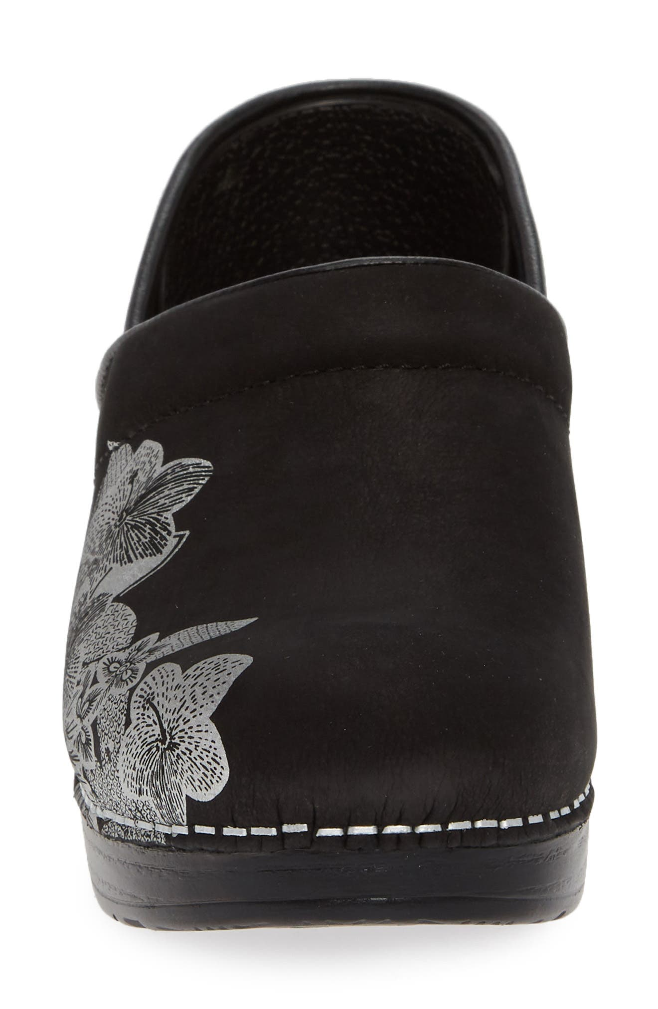 ,                             'Professional' Clog,                             Alternate thumbnail 4, color,                             METALLIC FLORAL NUBUCK LEATHER