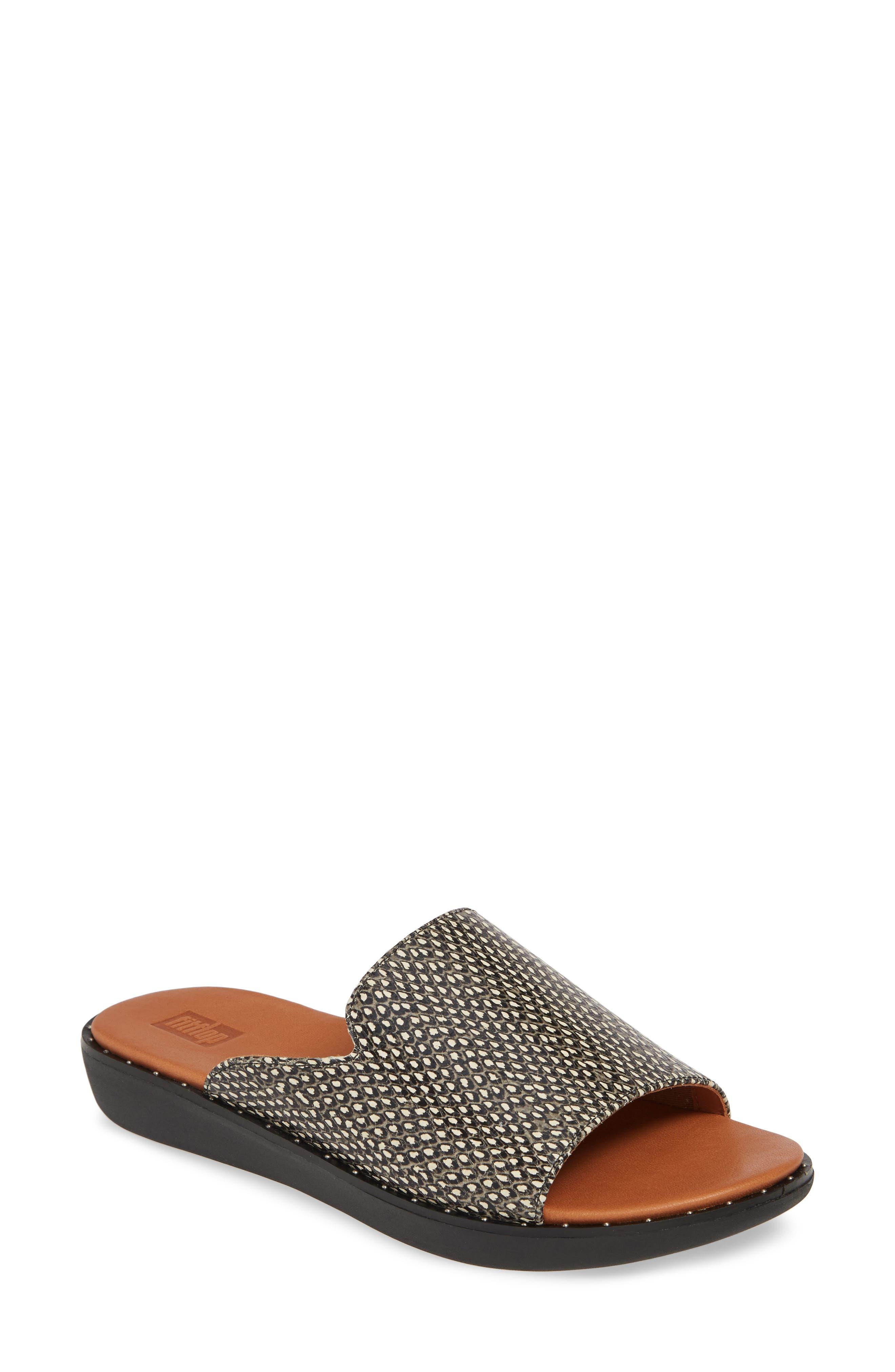 Saffi Dotted Slide Sandal, Main, color, 001