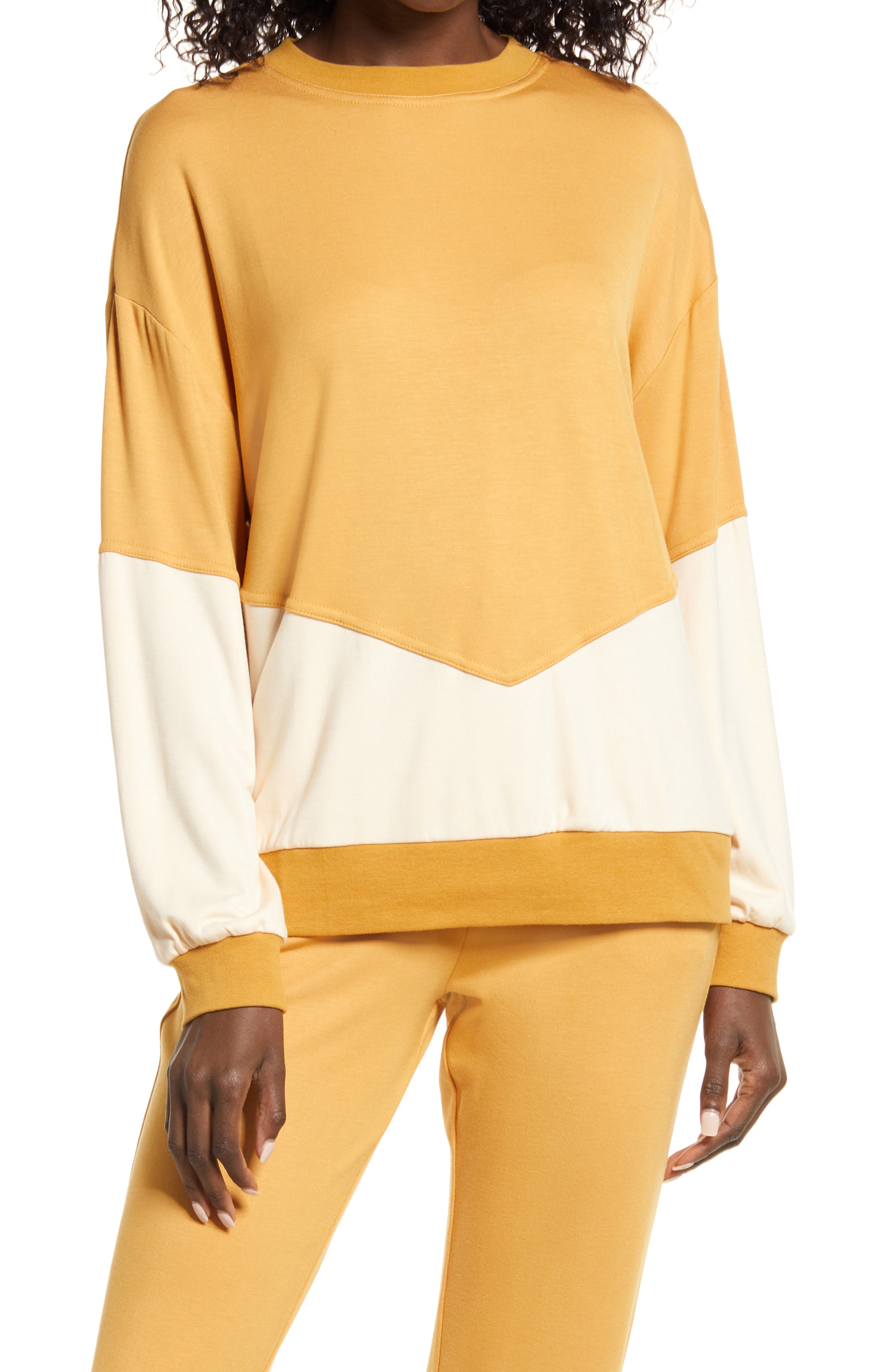 Women's Kendall + Kylie Colorblock Sweatshirt