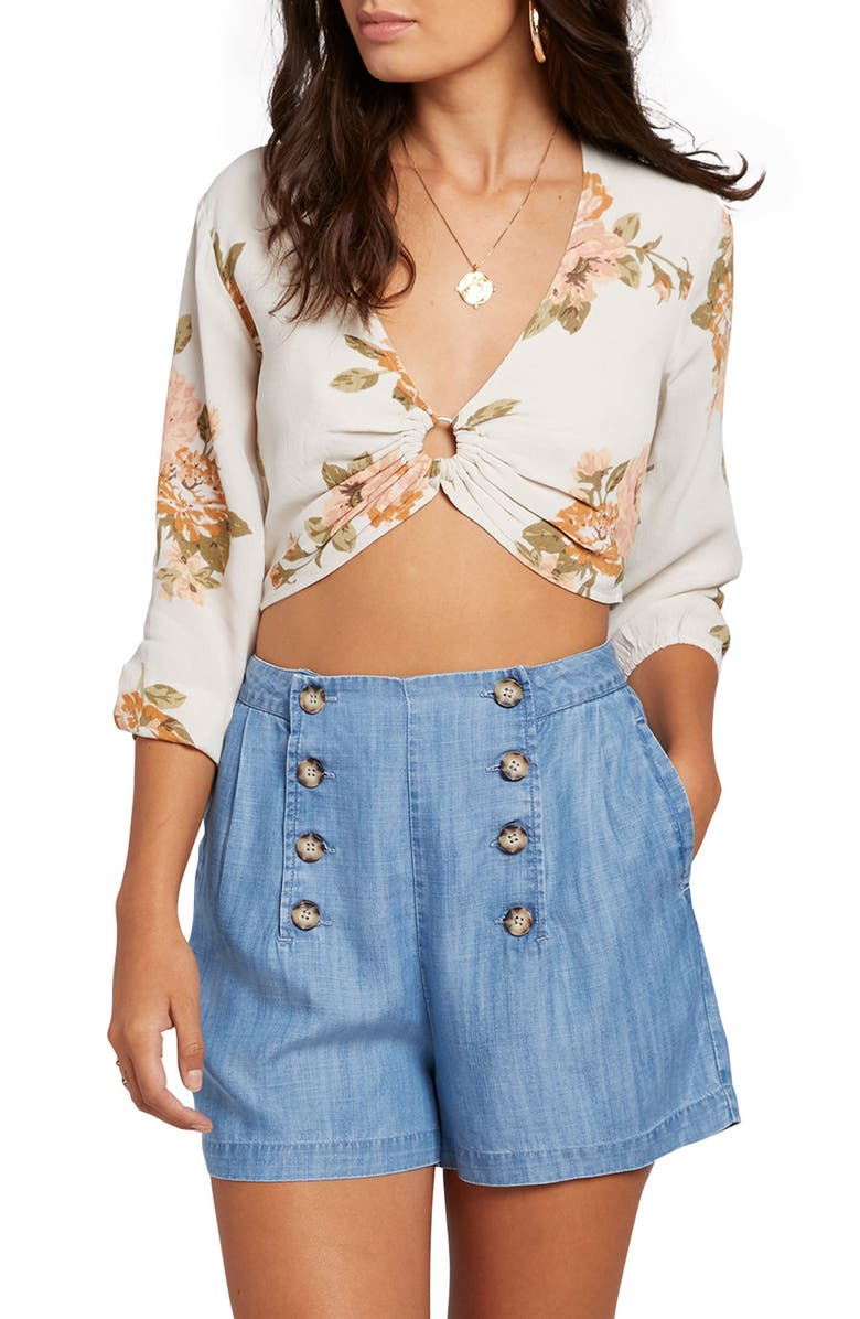 STONE ROW Down for It Crop Top, Main, color, 902
