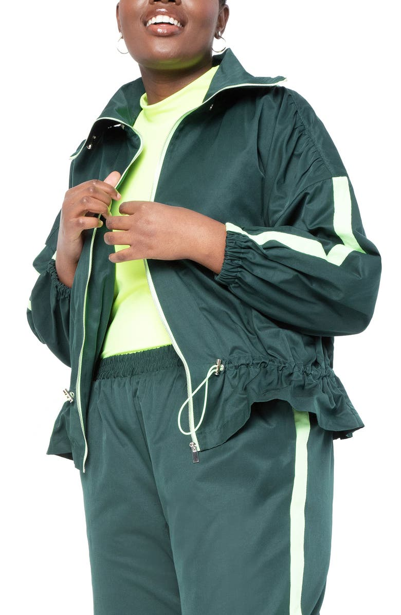 ELOQUII Peplum Track Jacket, Main, color, 300