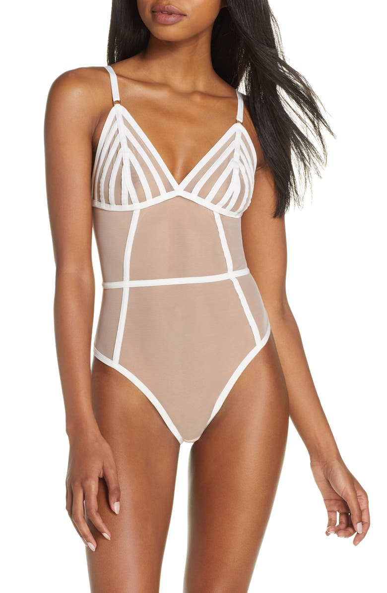 BLUEBELLA London Thong Bodysuit, Main, color, 100