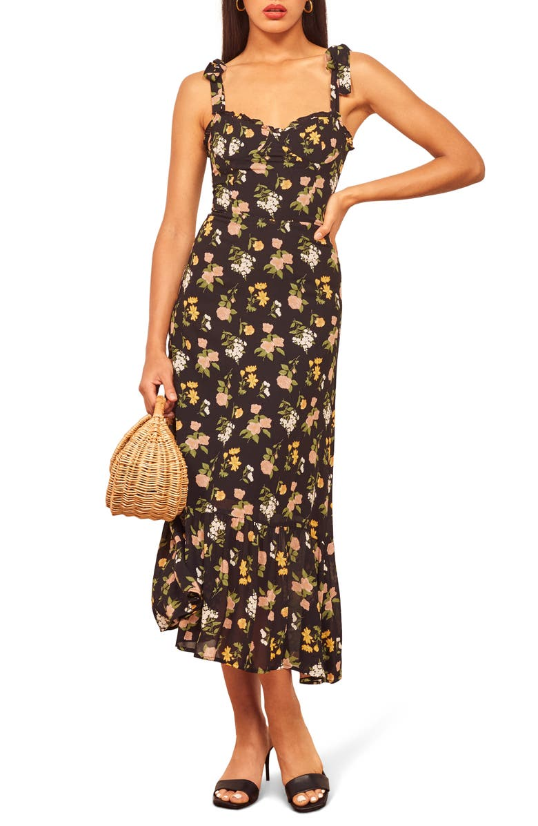 REFORMATION Nikita Midi Dress, Main, color, SYLVIE