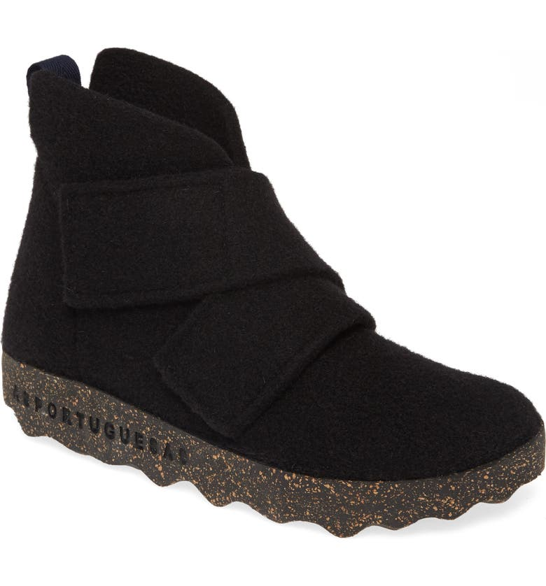 ASPORTUGUESAS BY FLY LONDON Case Bootie, Main, color, BLACK TWEED FABRIC