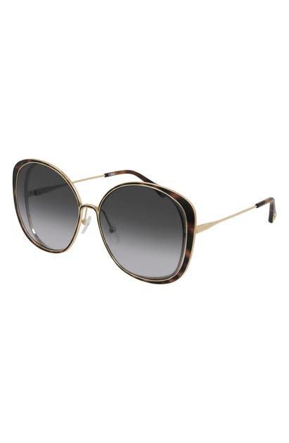 Chloé 63MM GRADIENT OVERSIZE ROUND SUNGLASSES