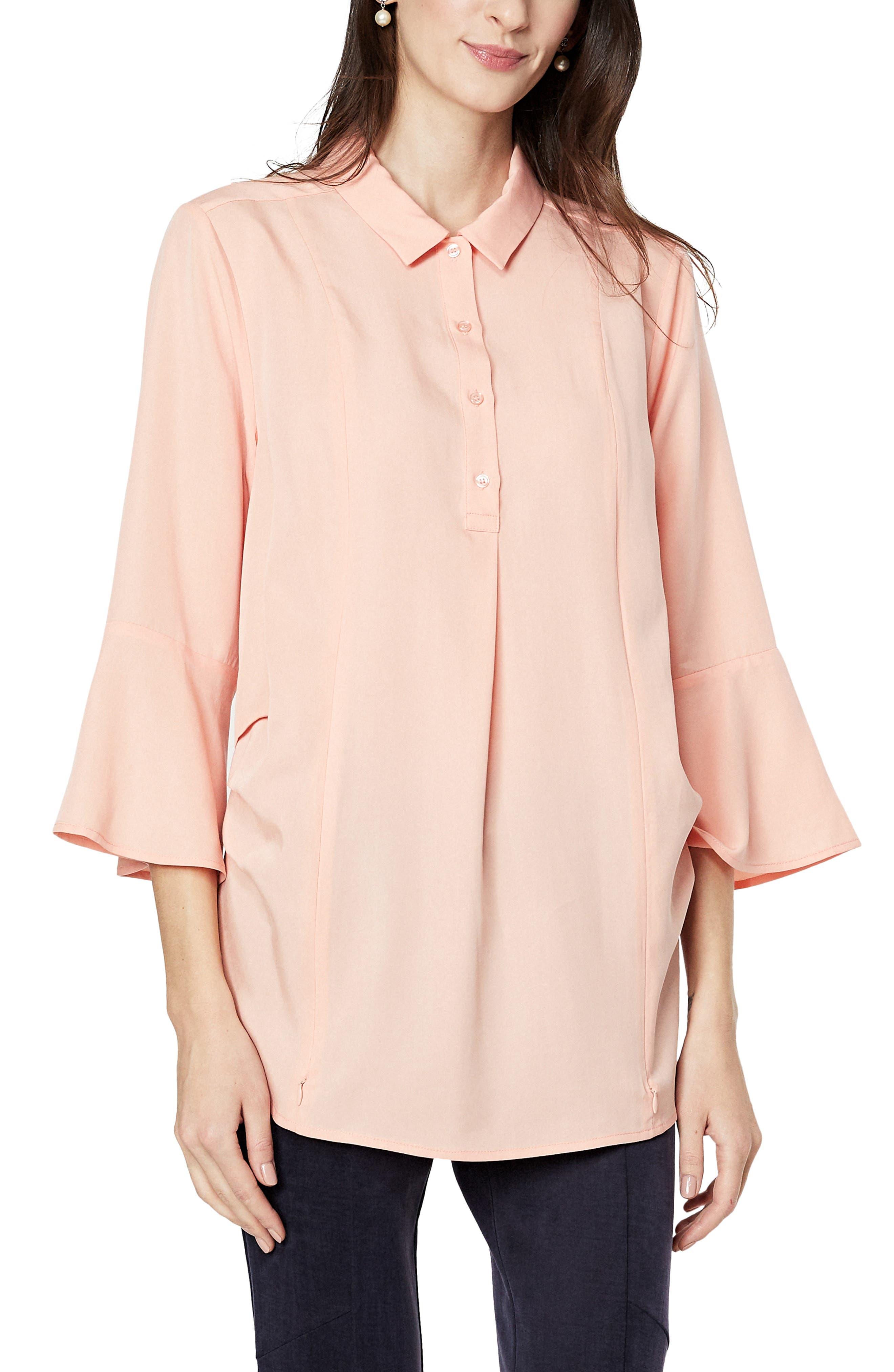 Olivia Bell Cuff Maternity/nursing Shirt