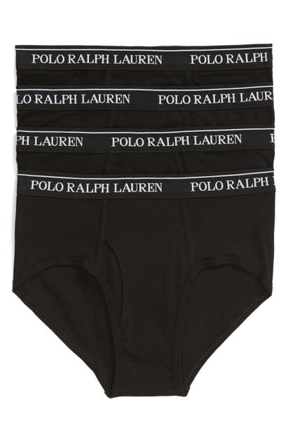 Polo Ralph Lauren Classic Fit Cotton Brief 4-pack In Polo Black