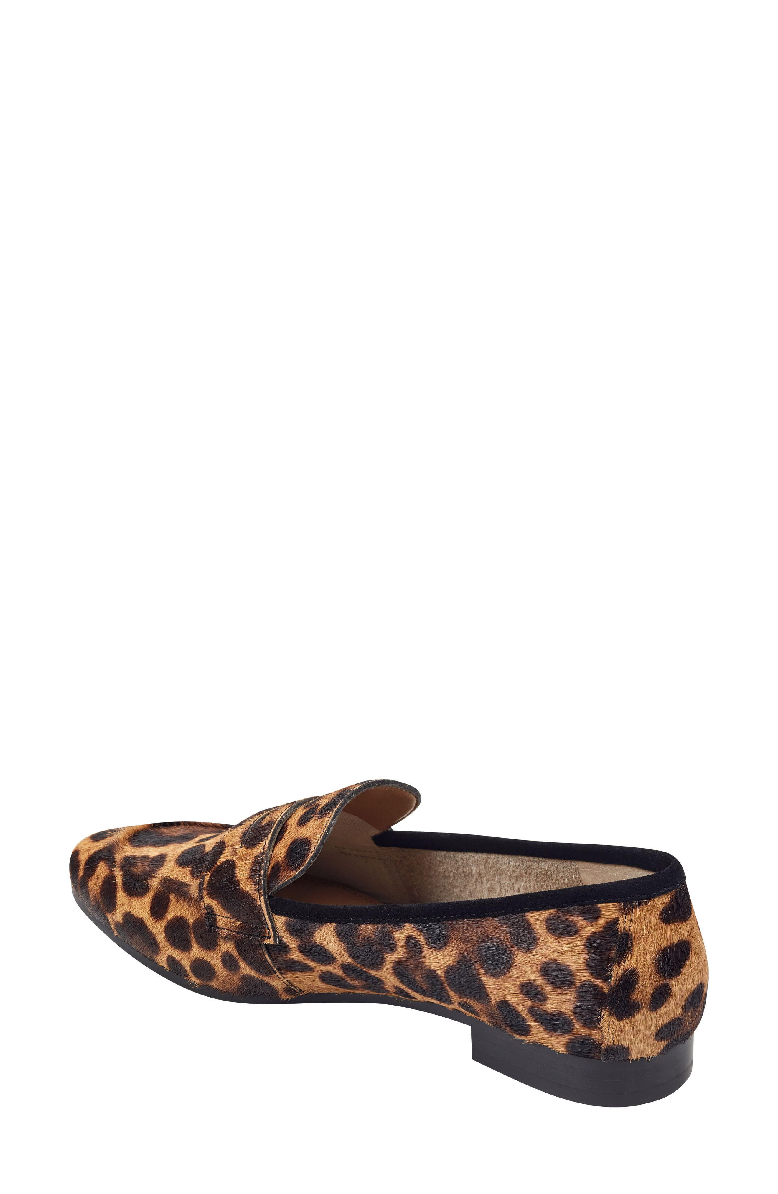 ,                             Chang Penny Loafer,                             Alternate thumbnail 2, color,                             LEOPARD PRINT CALF HAIR