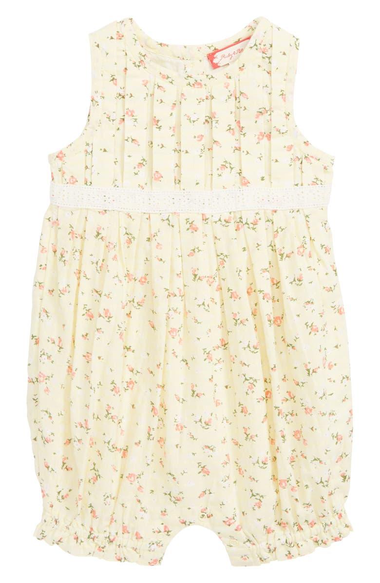 71105c8927ffc Ruby & Bloom Floral Pleat Romper (Baby) | Nordstrom