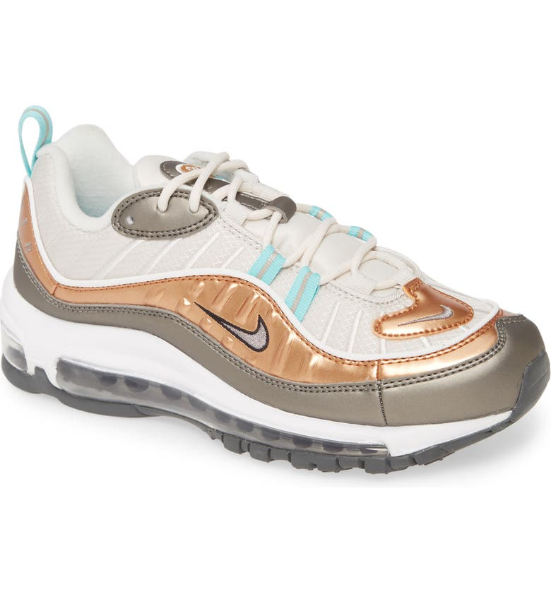 NIKE Air Max 98 SE Sneaker, Main, color, PHANTOM/ PEWTER/ TAWNY