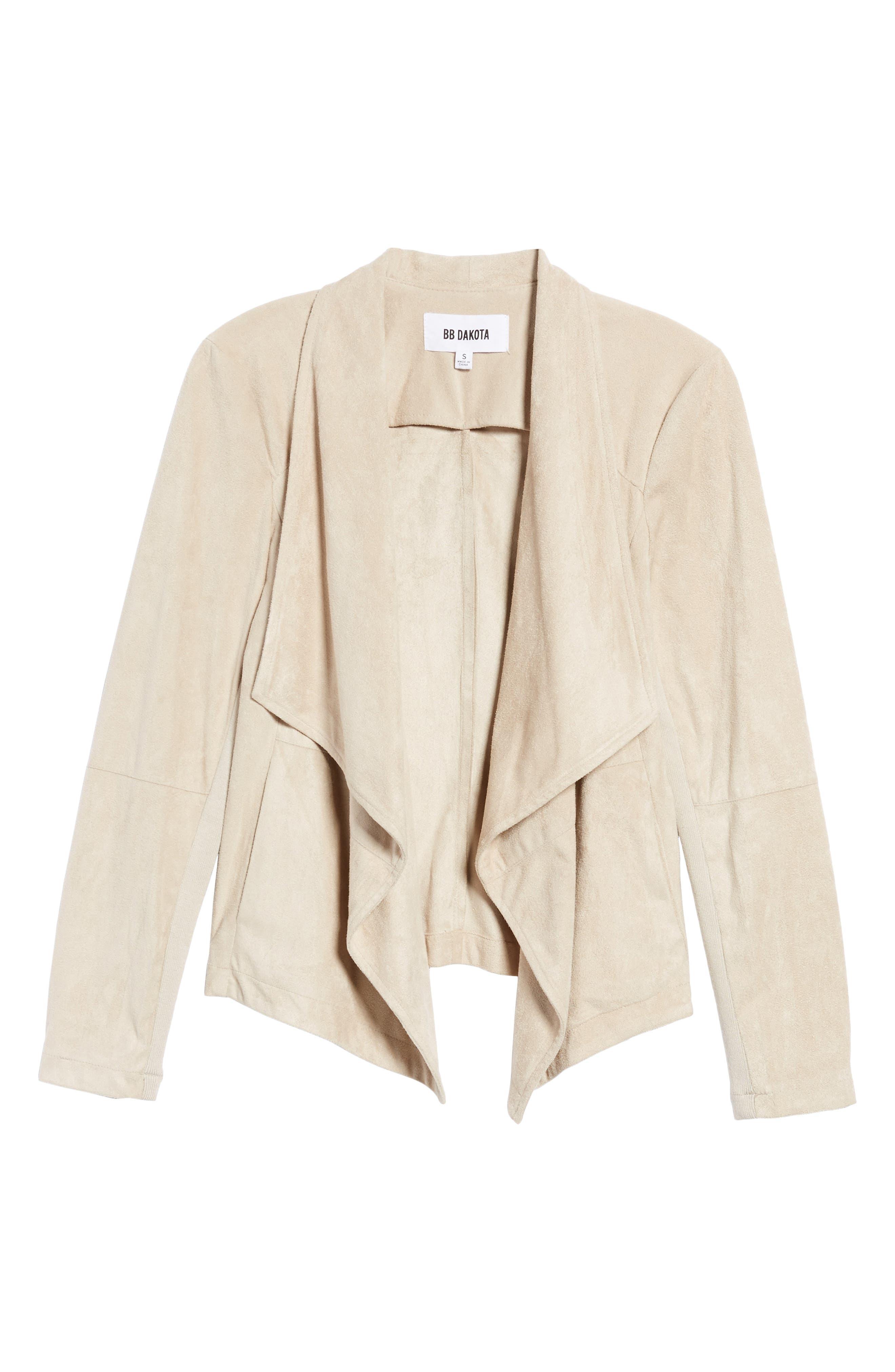 ,                             Nicholson Faux Suede Drape Front Jacket,                             Alternate thumbnail 69, color,                             905