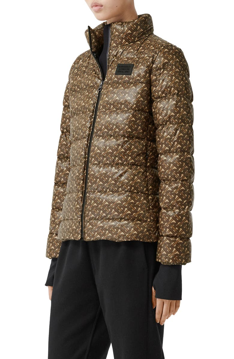 BURBERRY TB Monogram Print Pentland Down Puffer Jacket, Main, color, 200