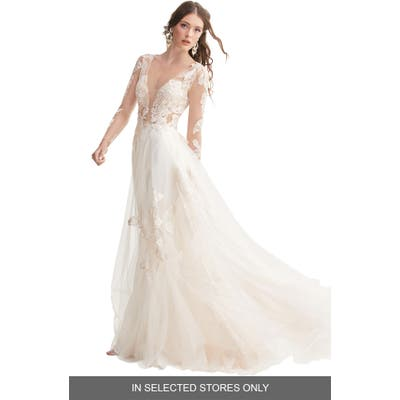 Willowby Rhapsody Lace & Tulle A-Line Wedding Dress, Size IN STORE ONLY - Ivory