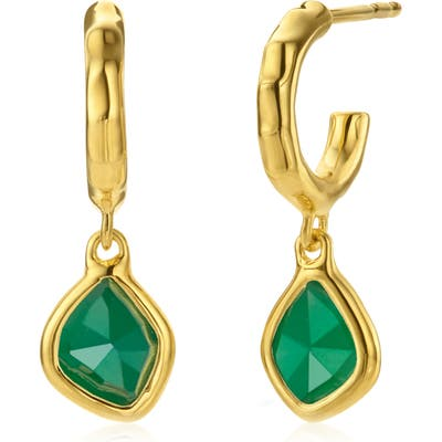Monica Vinader Siren Mini Nugget Drop Earrings