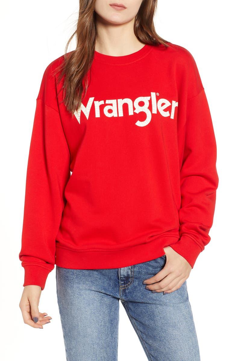 WRANGLER Logo Sweatshirt, Main, color, 600