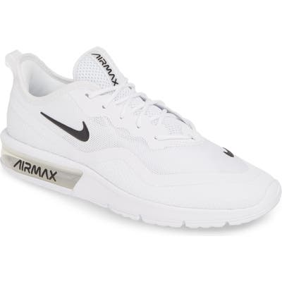 Nike Air Max Sequent 4.5 Running Shoe, White