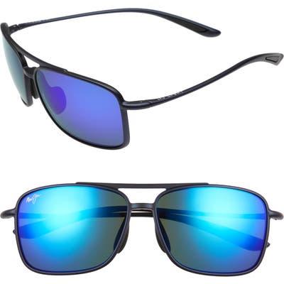 Maui Jim Kaupo Gap 61mm Polarizedplus2 Sunglasses - Matte Blue/ Blue Hawaii
