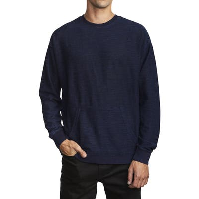 Rvca Hi-Grade Long Sleeve Pocket T-Shirt, Blue