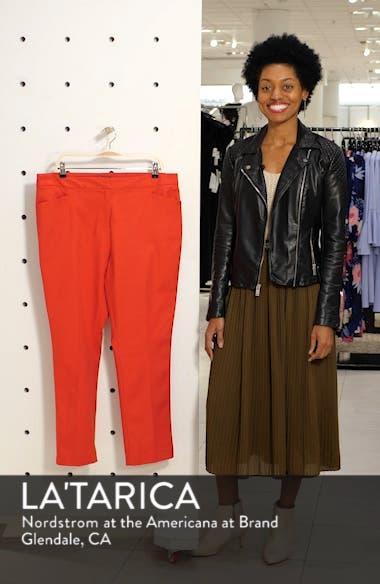 Stretch Cotton Blend Ankle Trousers, sales video thumbnail