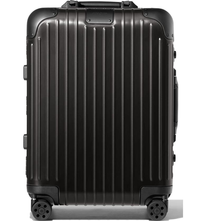 RIMOWA Original Cabin 22-Inch Suitcase, Main, color, BLACK