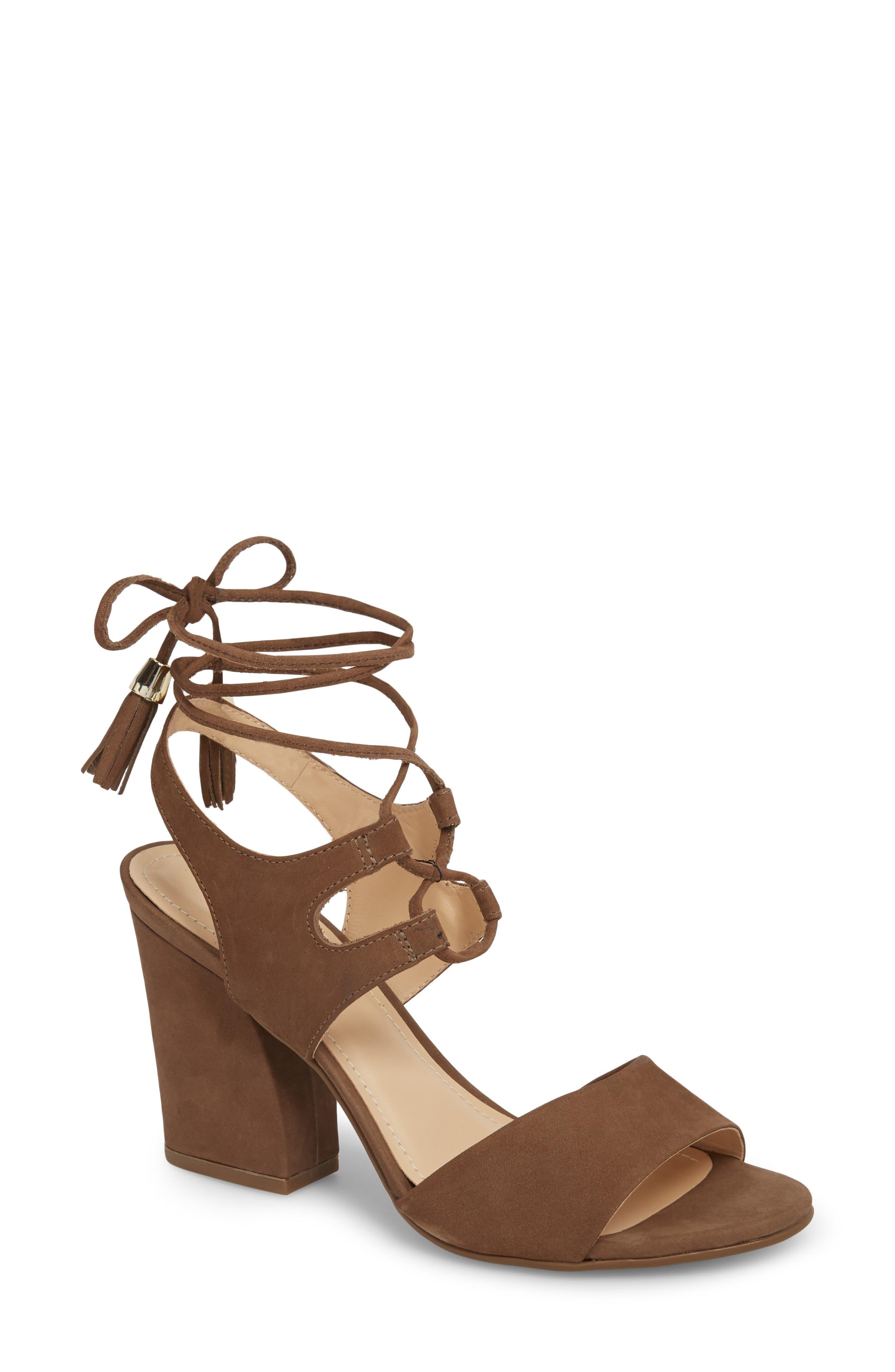 Klub Nico Kaira Ankle Wrap Sandal, Brown