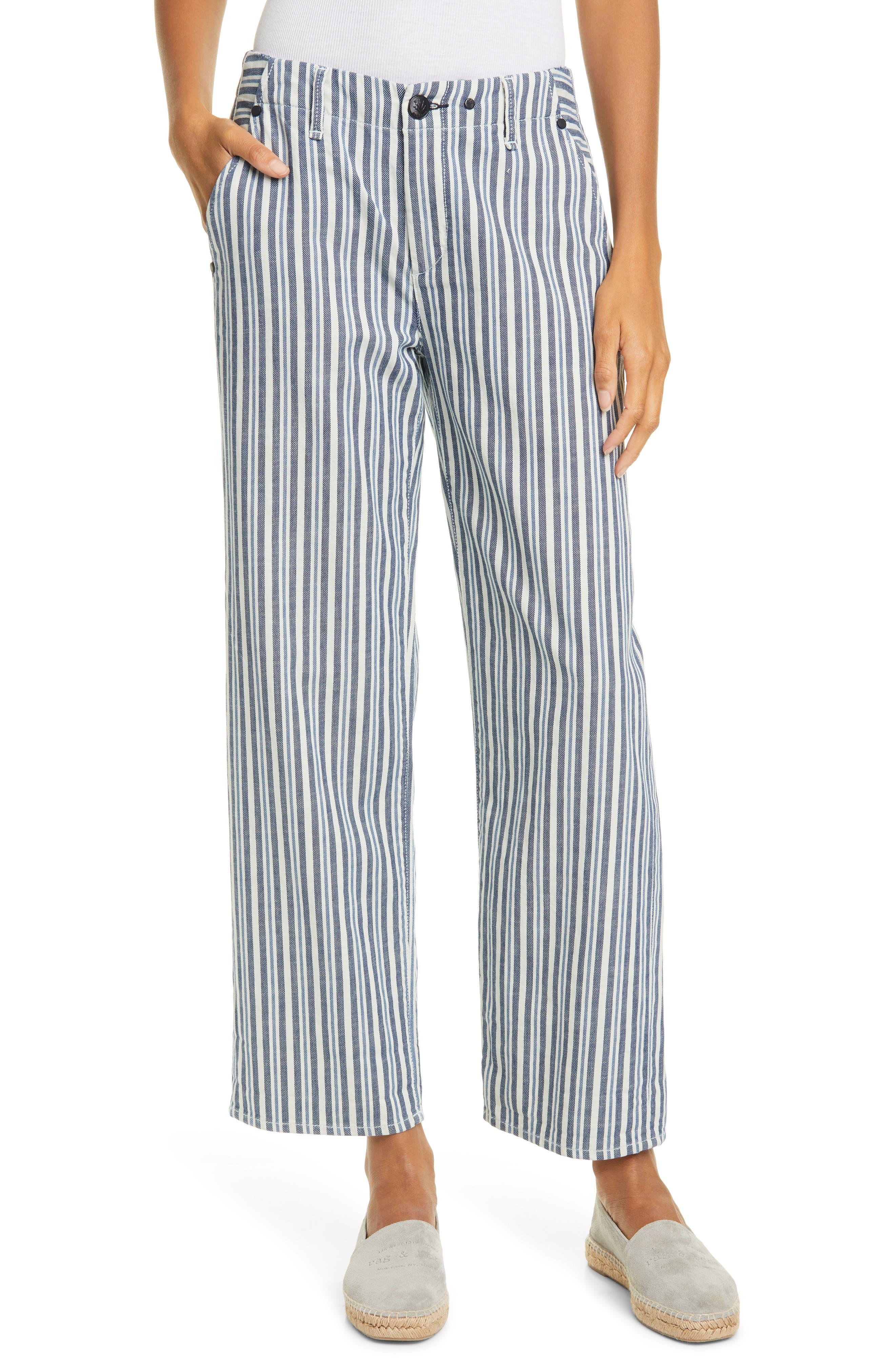 Image of Rag & Bone Buckley Stripe Ankle Straight Leg Pants