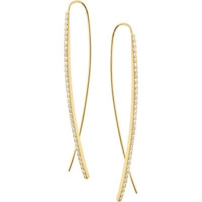 Lana Jewelry Narrow Upside Down Flawless Diamond Earrings