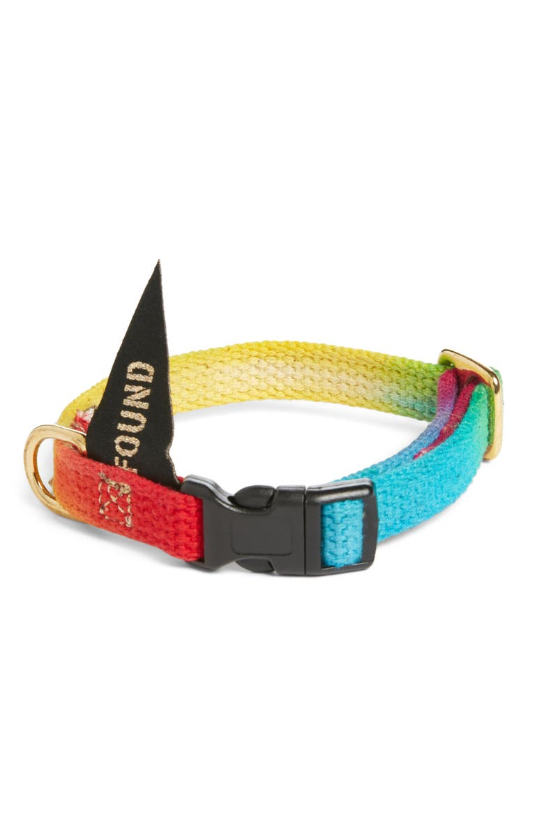 FOUND MY ANIMAL Prismatic Woven Cat/Dog Collar, Main, color, PRISMATIC