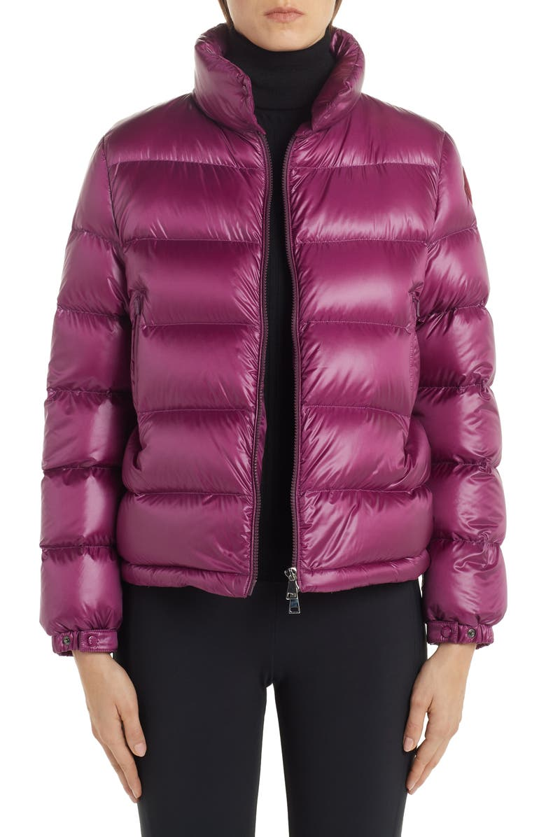 MONCLER Copenhague Lacquered Down Jacket, Main, color, PURPLE