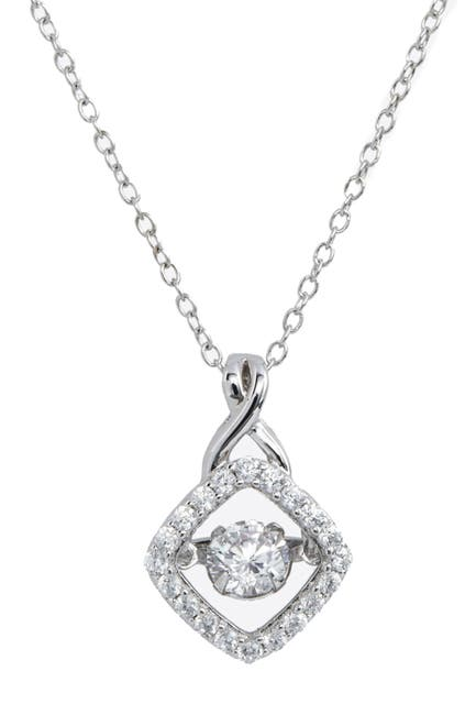 Image of Savvy Cie Sterling Silver Dancing CS Pendant Necklace