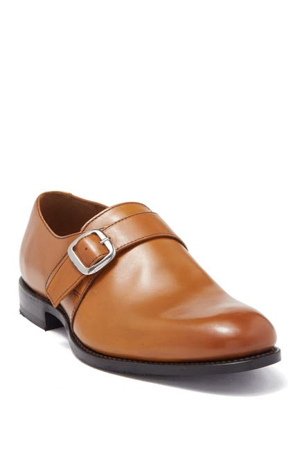 Image of MORAL CODE Daxton Leather Monk Strap Loafer