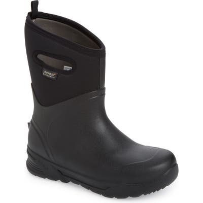 Bogs Bozeman Mid Waterproof Boot, Black