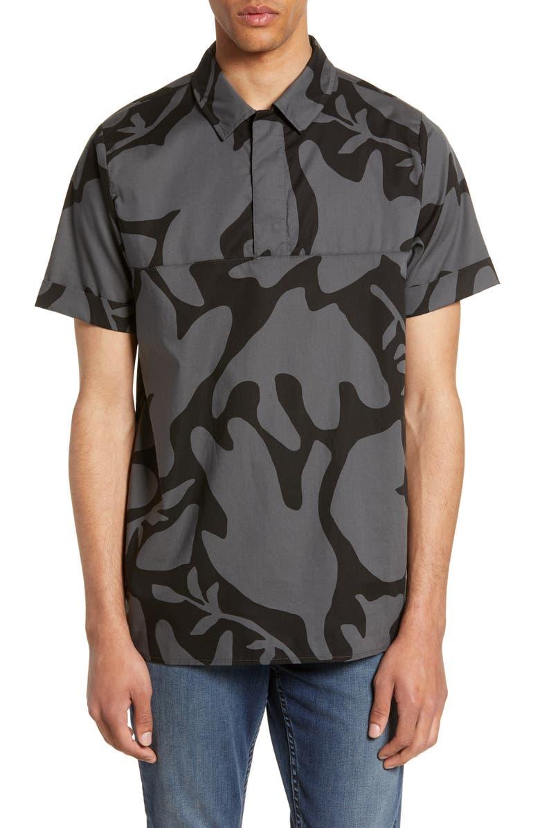 NIKE SB Nike Short Sleeve Polo Shirt, Main, color, ANTHRACITE/ BLACK