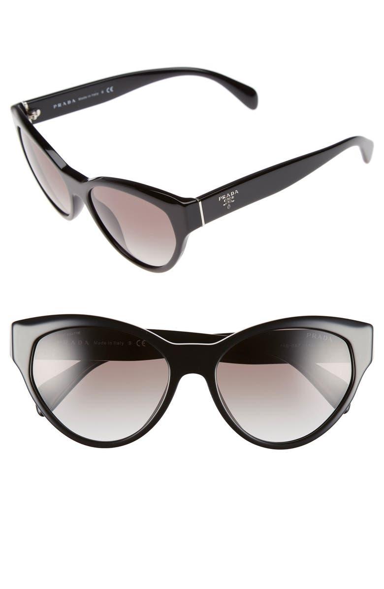 de9b1059c17a 55mm Cat Eye Sunglasses, Main, color, 001
