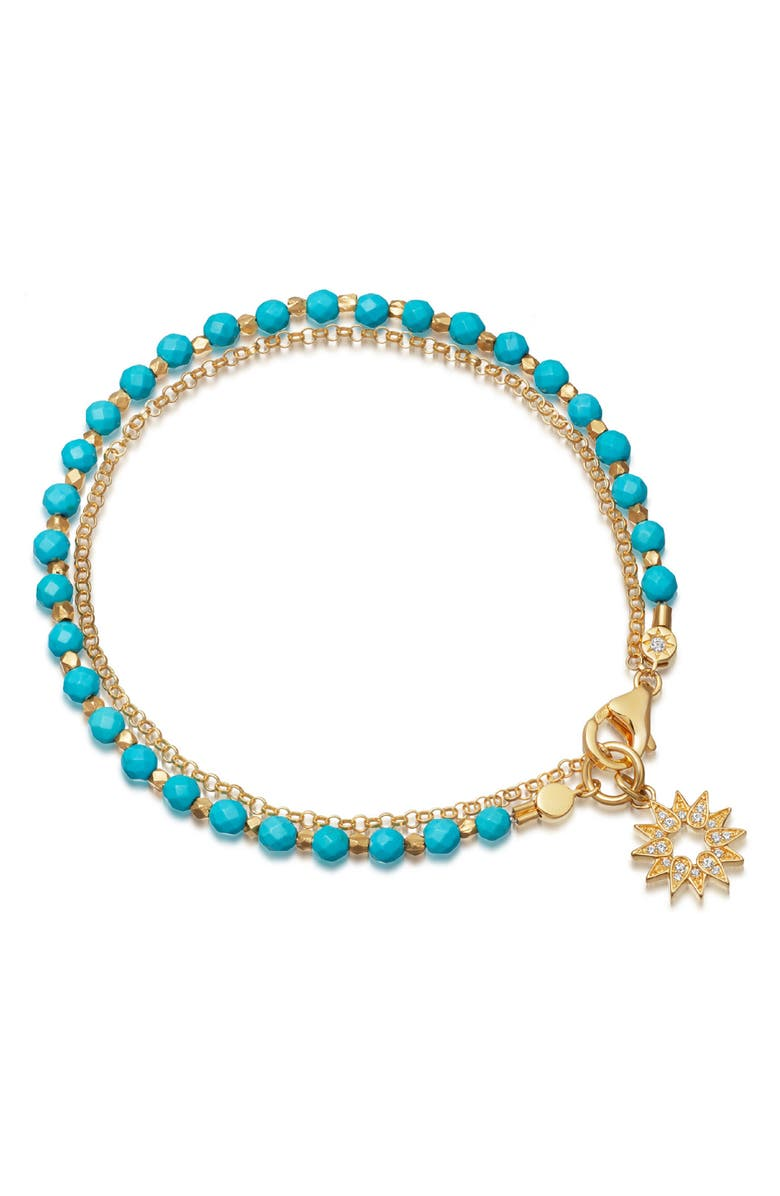 ASTLEY CLARKE Sun Biography Turquoise Bracelet, Main, color, TOURQUOISE/ YELLOW GOLD