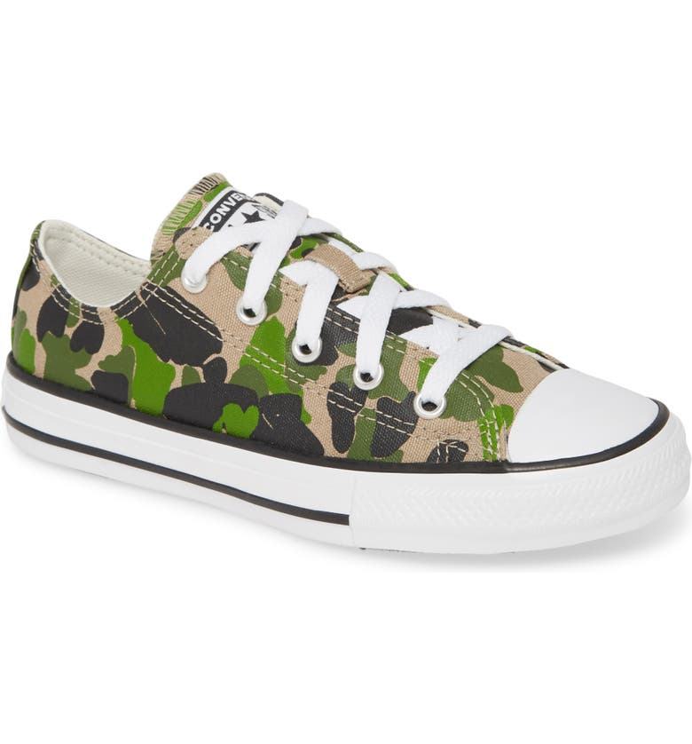 CONVERSE Chuck Taylor<sup>®</sup> All Star<sup>®</sup> Camo Low Top Sneaker, Main, color, 200