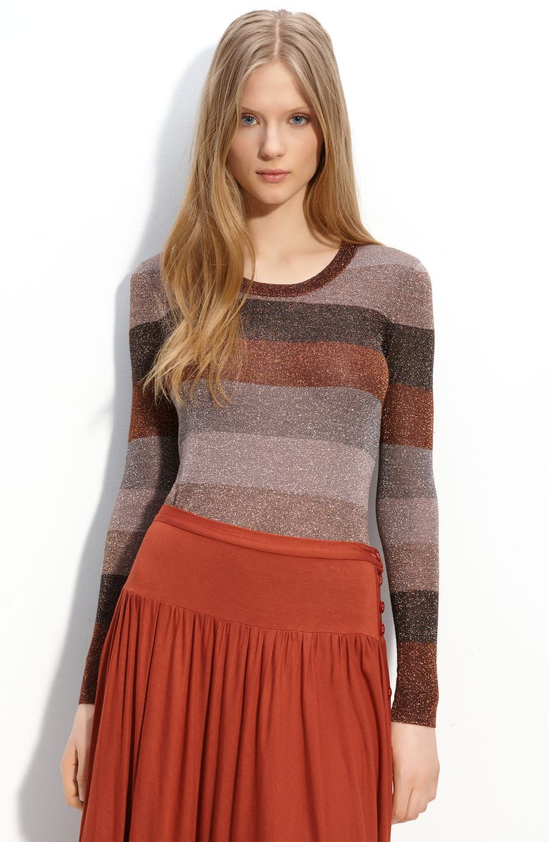 MARC BY MARC JACOBS 'Camino' Metallic Sweater, Main, color, COPPER METALLIC MULTI