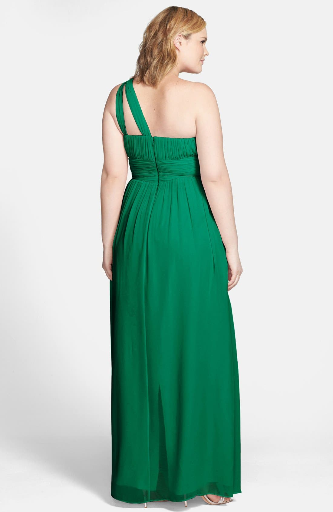,                             'Rachel' Ruched One-Shoulder Chiffon Gown,                             Alternate thumbnail 44, color,                             314